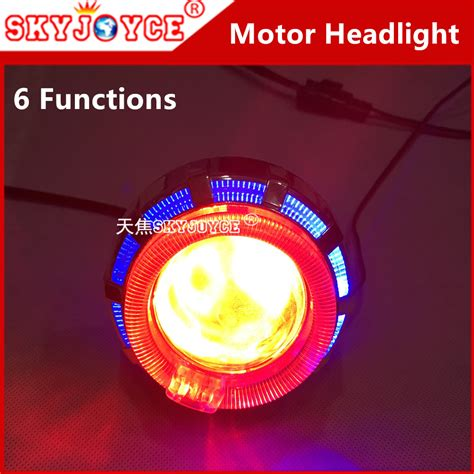 Lu Led Xenon Motor led motor bi xenon motorcycle led projector lens headlight accessories