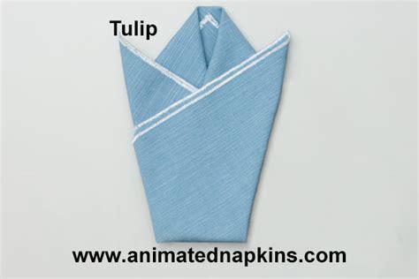 How To Fold A Paper Tulip - napkin tulip how to fold the napkin tulip triangle knots