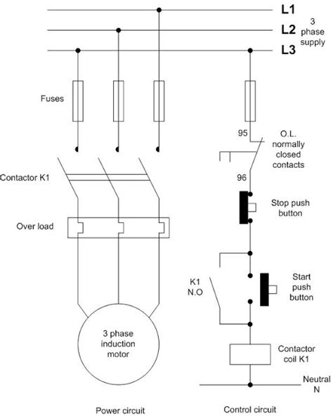 direct motor starter diagram direct free engine