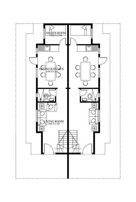 Duplex Floorplans by Duplex House Plans Series Php 2014006