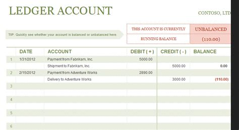 How To Put Debit Credit Formula In Excel Excel Ledger Template With Debits And Credits Excel Accounting Templates General Ledger