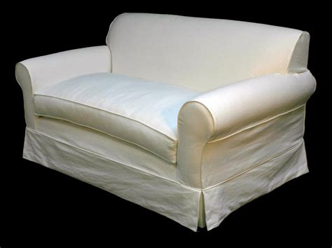 White Slipcovered Loveseat Home Furniture Design
