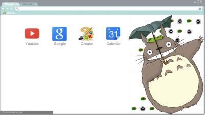 theme chrome totoro totoro chrome themes themebeta