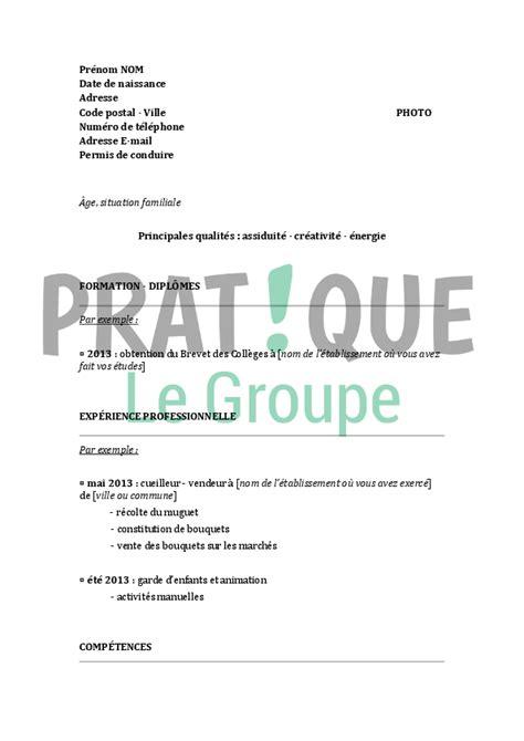 Exemple Lettre De Motivation Fleuriste Mod 232 Le De Cv Pour Un Cap Fleuriste Pratique Fr