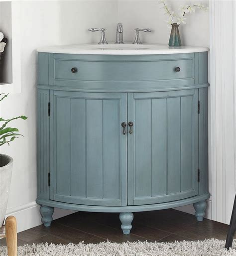 Corner Bathroom Vanity Sink 24 Quot Benton Collection Light Blue Thomasville Corner Bathroom Sink Vani Corner White White
