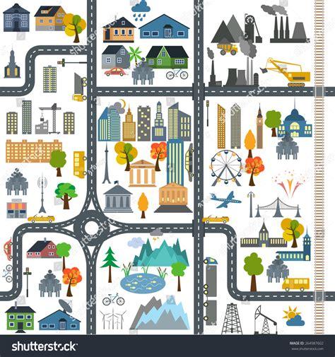 vector map generator city map generator city map exle stock vector 264987602