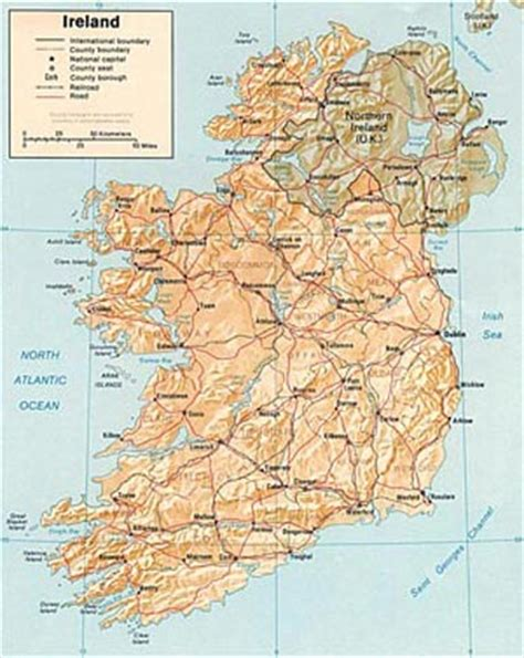 printable road maps ireland map of northern ireland and ireland