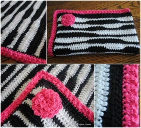 zebra pattern afghan the cutest collection of zebra crochet free crochet