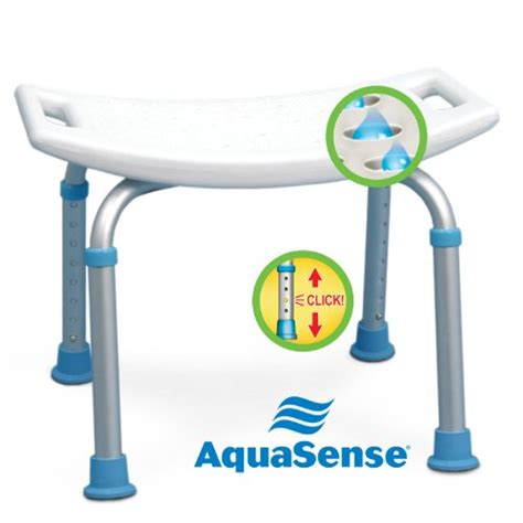 bath and shower seat aquasense adjustable bath and shower chair with non slip