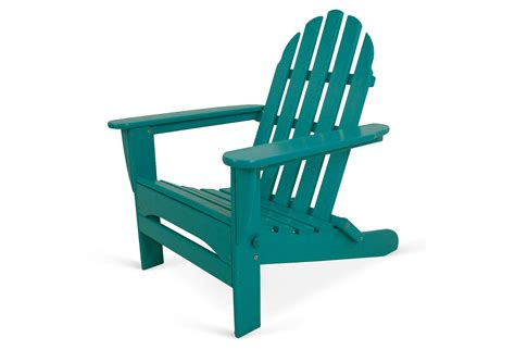 Teal Adirondack Chairs by Classic Folding Adirondack Teal Outdoor From One