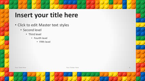 free lego templates lego powerpoint template