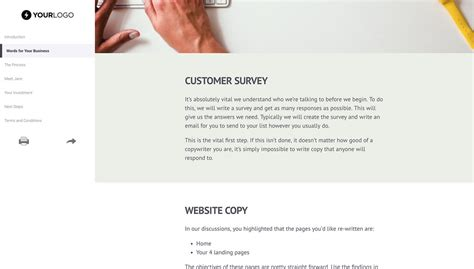 Free Copywriting Proposal Template Better Proposals Free Copywriting Templates