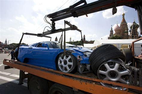bugatti eb110 crash bugatti eb 110 crash at 2009 bavaria moscow city racing
