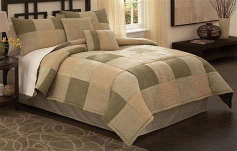 earth tone neutral square king comforter bedding set ebay