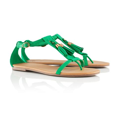 green sandals h m sandals in green lyst