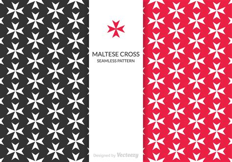maltese cross vector pattern   vector