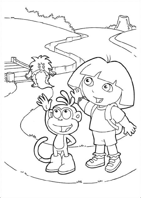 10 free dora coloring pages for kids gt gt disney coloring pages