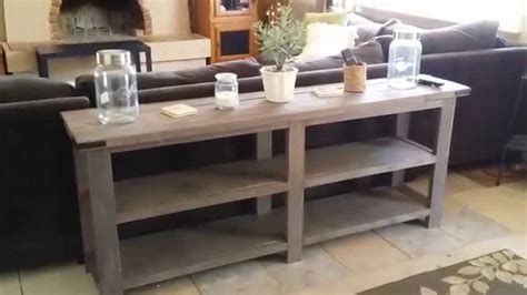 build your own sofa table log tables sharp home design