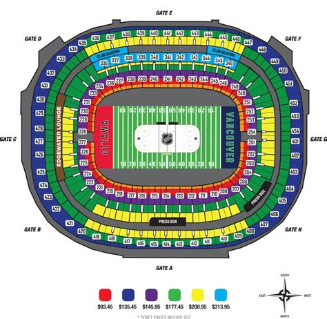 big house section map heritage classic vancouver 2014 tickets prices