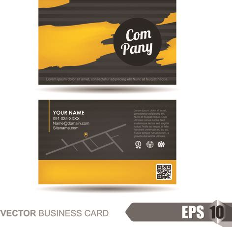 business card templates cdr format business card free eps vector templates free vector