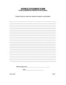 witness form template witness statement form best template collection