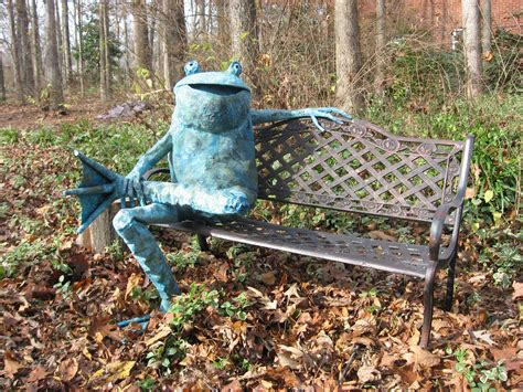 frog on bench 1000 images about frog garden statues on pinterest frog