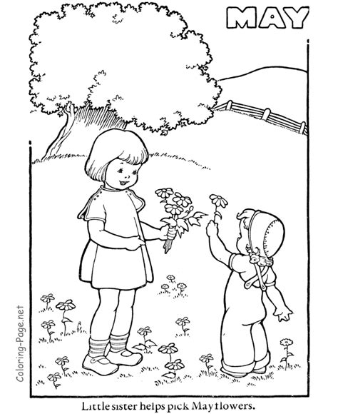 spring coloring book pages may coloring