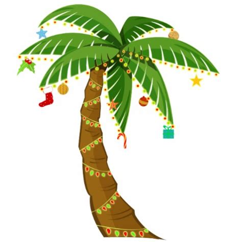 palm tree with christmas lights clipart 24