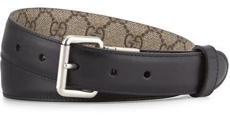 Belt Gucci Fashion Emboss Black Silver 03 Premium Quality Import Bags gucci gg monogram reversible belt in black lyst