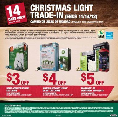 home depot christmas light trade in november 1 14 al com
