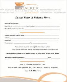 records release form template sle dental records release form 8 exles in word pdf