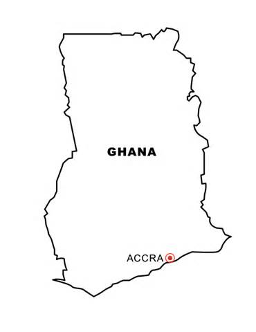 geography blog ghana outline maps