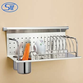 Rak Piring Stainless 2 Layer Dish Rack Stainless 2 Tingkat wdj506 stainless steel kitchen rack wall hanging plate