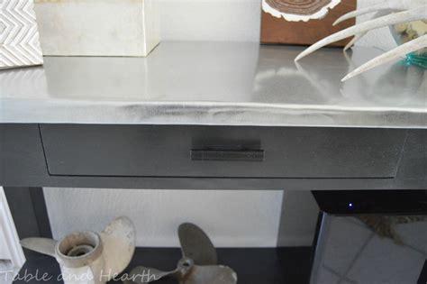 Remodelaholic Diy Metal Table Top Tutorial Metal Table Tops