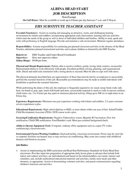 Resume Sle Substitute Substitute Resume Sle Resume Writing 28 Images Term Substitute Resume Sales Lewesmr