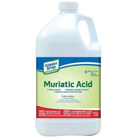 klean 1 gal green muriatic acid gkgm75006 the