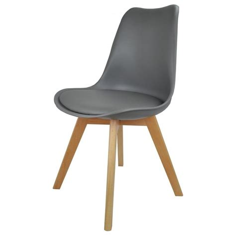 Grey Plastic And Faux Leather Dining Chair From Fusion Living Faux Leather Dining Chair