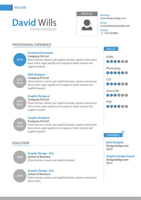 Job Resume Biodata by