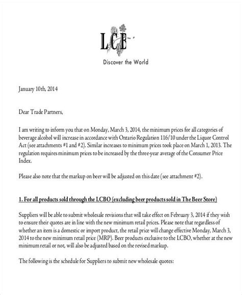 Sle Letter For Product Quotation 27 Sle Quotation Letters
