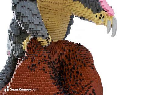 sean kenneys art  lego bricks chinese pangolin