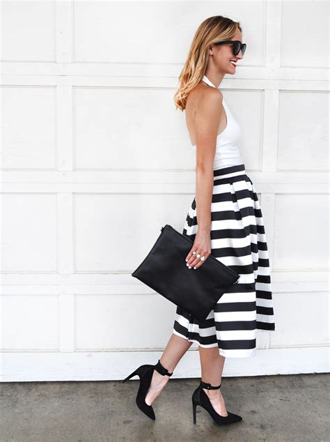 black and white striped skirt black and white striped high waisted skirt fashion skirts