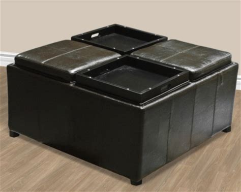 ottoman with built in tray ottoman with built in tray contemporary storage brown