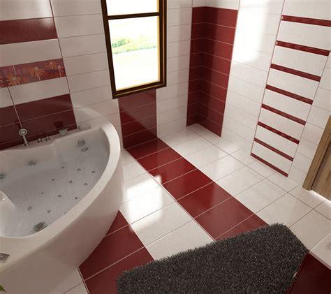 badezimmer 2 x 3 bilder 3d interieur badezimmer rot wei 223 baie ral arnisal 2