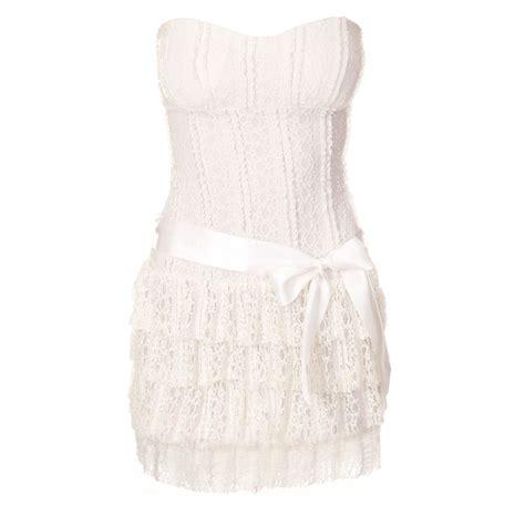 Robe Bustier Dentelle Blanche - robe bustier dentelle blanche brandalley