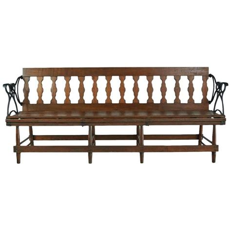 iron and wood bench victorian wood and iron reversible railway bench for sale