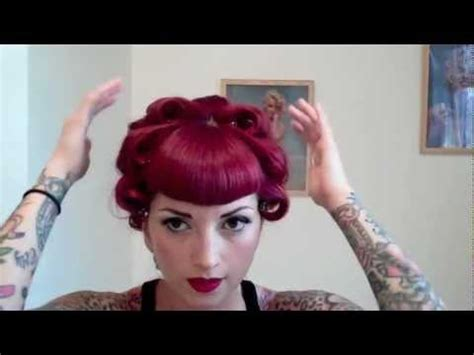 vintage hairstyles curling iron vintage hair pincurl tutorial using a curling iron by