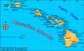 map of hawaiian islands and california atlas hawaii