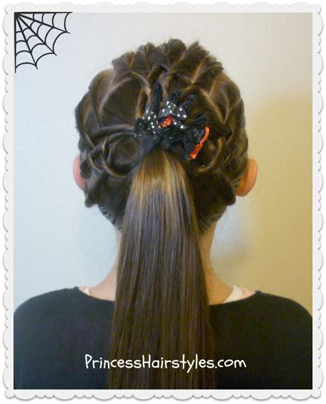 princess piggies hairdos spider web hairstyles tangled weave spider web ponytail