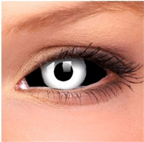 White Colorless Cat Eye negative sclera contact lenses black and white is