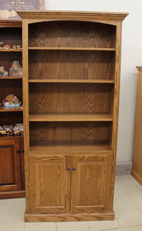 Wide Bookcase With Doors 6 1 2 Deluxe Traditional Bookcase With Doors 37 1 2 Wide Amish Traditions Wv